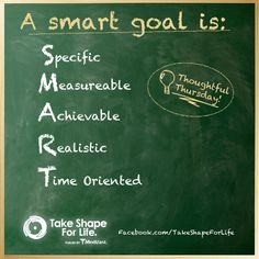 Don't just set a goal, make a plan to reach it! #TSFL #TakeShapeForLife