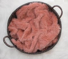 NEW ITEM.....Coral Faux Fur Prop Short Pile by SweetBabyJamesShop