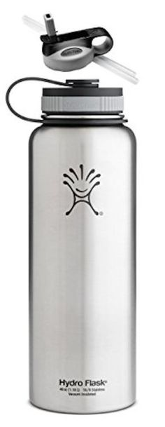 Amazon.com : Hydro Flask Insulated Stainless Steel Water Bottle, Wide Mouth, 40-Ounce, 40-Ounce, Acai Purple with Straw Lid : Sports & Outdoors