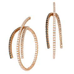 SAZINGG Gold & Diamonds Pink Earrings #sazingg #gold #diamonds #earrings