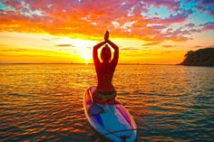 Costa Rica SUP stand up paddleboard tour at sunset