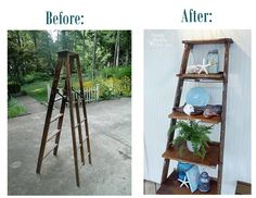 How to Build Ladder Shelves #DIY #home