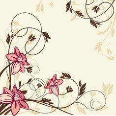 Flower with Swirl Floral Vector Illustration Cute Wallpapers, Wallpaper Backgrounds, Vintage Floral Backgrounds, Certificate Design Template, Illustration Blume, Watercolor Quote, Decoupage Paper, Stencil Designs, Floral Illustrations