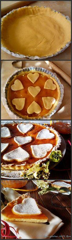 Crostata senza glutine con confettura di albicocche