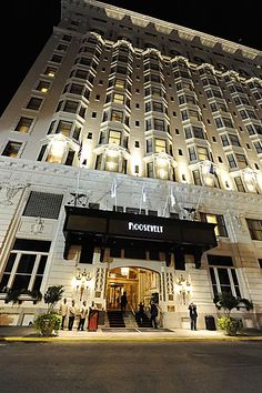The Roosevelt Hotel. New Orleans, LA, Favorite. Best Of New Orleans, Hotel Design Architecture, Entrance Design, Crescent City, Roosevelt, Hotels And Resorts, Places Ive Been, How To Memorize Things, Vacation