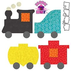 55367- Accuquilt GO! Choo Choo Train Die Baby Quilt Block Applique Caboose New