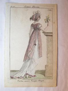 Costume Parisien, 1801 I love this charming overdress and the little teeth along the edges!