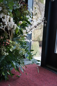 We installed an open archway to frame the stunning view out to the sea at Kinkell Byre, for N and J Narcissus Flower, Wedding Flowers, Wedding Day, Stunning View, Special Day, Wedding Decorations, Sea, Frame, Plants
