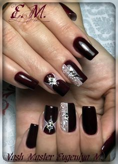 Image IMG 6922 in Beautiful nails album Fabulous Nails, Gorgeous Nails, Pretty Nails, Acrylic Nail Designs, Nail Art Designs, Acrylic Nails, Xmas Nails, Christmas Nails, Nail Art Noel