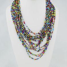 Bead strand necklace