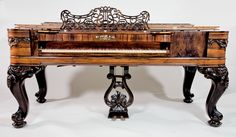 Square piano by William Knabe and Co., Baltimore, ca. 1865. my husband is a piano technician and is rebuilding one right now!