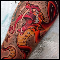 Snake tattoo by Ben Gun