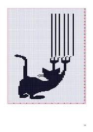 Resultado de imagen de esquemas de gatos en punto de cruz