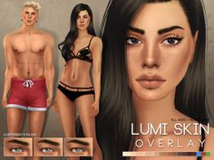 Lumi Skin Overlay for The Sims 4