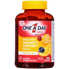 One A Day Vitacraves Immunity Gummies 150 Count *** Continue to the product at the image link.