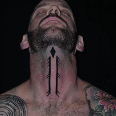 Freehand inspired symbol from @miketheathens 109 apokrypha book. Thanks @evanfot.9  #freehand #freehandtattoo #black #blackwork #blackink #blacklines #blacktattoo #throattattoo #dildotattoostudio #tribal #tatau #alexthejem #athenstattoo #tattooart #tattooink #tattoolife #tattooworkers #tattooideas