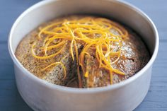 Orange and poppyseed cake - only used the zest of two oranges and used normal sugar rather than castor sugar.