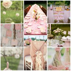 décoration mariage rose, deco mariage rose