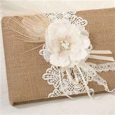 Lace Guest Book_ Libro de invitados hecho con rncaje y flores