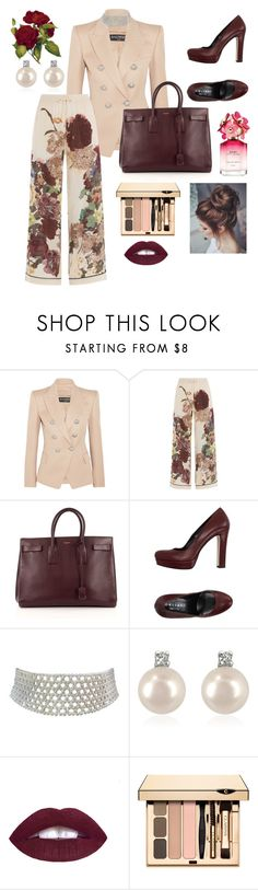 """""""Loose pants"""" by vettec ❤ liked on Polyvore featuring Balmain, Valentino, Yves Saint Laurent, Orciani, Marina J., Forzieri and Marc Jacobs"""