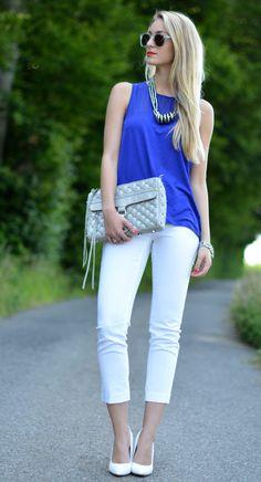 Royal Blue  #Tanks #Shoulder #Pants