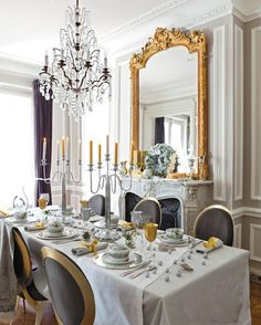 Gold and Silver House Decor | dining-room-holiday-christmas-gary-silver-decorating-ideas-gold.jpg