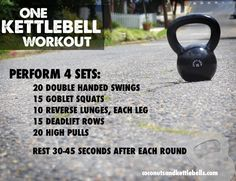 Strength Training: One Kettlebell Workout (Click the link to view the videos on how to do each movement!)