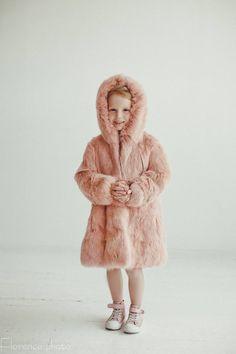e77c78d0ba5b Pink fur coat for kids Fur jacket Long coat Winter Kids coat Baby coat Baby  gift Kids clothing Girls coat Rabbit fur coat Girl s fur coat