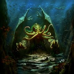 Lovecraft Story, Call of Cthulhu Hp Lovecraft, Art Cthulhu, Call Of Cthulhu, Horror Comics, Horror Art, Horror Quotes, Kraken, Computer Wallpaper, Hd Wallpaper