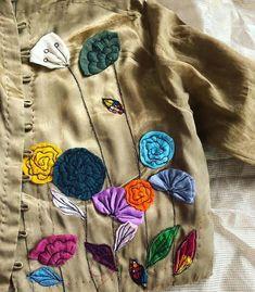 Embroidery On Kurtis, Kurti Embroidery Design, Cutwork Embroidery, Hand Work Embroidery, Machine Embroidery, Applique Quilt Patterns, Applique Fabric, Applique Designs, Kurta Designs