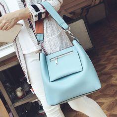2 Pcs Women Tassel Luxury PU Leather Shoulder Bags Girls Autumn Winter Crossbody Bags - Gchoic.com