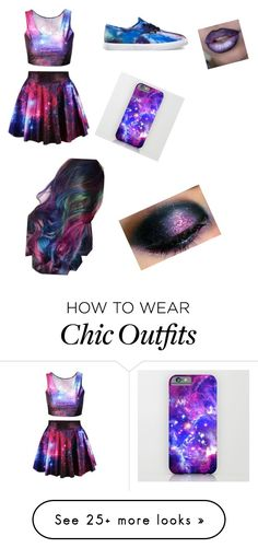 """""""Galaxy Look"""" by abbierios on Polyvore featuring Vans"""
