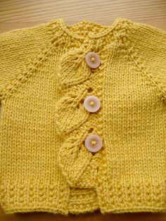 I want to make this in green! I have the perfect buttons! Cascade is the name of the sweater.