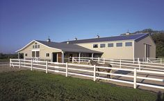 T-Shaped Horse Barn and Riding Arena | Yorkville, Illinois | FBi Buildings