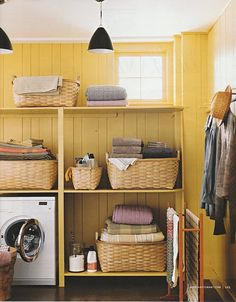 butter yellow laundry room  :)  love the description--my color preference:)