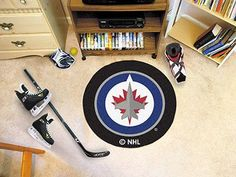 The NHL - Columbus Blue Jackets diameter Hockey Puck-shaped area rug by Fan Mats, Proudly Made in U. Made of nylon carpet and non-skid recycled vinyl backing. This rug is machine washable and Officially licensed. Chromojet printed in true team colors. Christmas Gifts For Husband, Unique Christmas Gifts, Nylon Carpet, Perfect Gift For Him, Time Shop, Round Rugs, Memorable Gifts, Shopping Hacks, Nhl