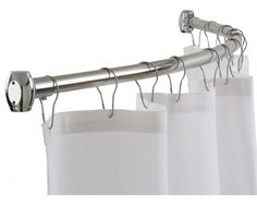 Extra Long Shower Curtain Rod Tension : Best shower curtain ideas