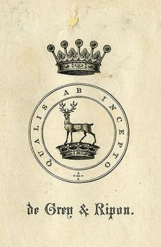 [Bookplate of de Grey & Ripon] by Pratt Libraries, via Flickr