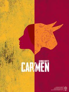 Carmen Opera Poster by Eduardo Espinoza, via Behance