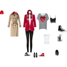 In the trenches by patrickj on Polyvore featuring sass & bide, Jane Norman, Burberry, Converse, H&M and Faliero Sarti