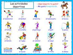 Me encanta escribir en español: Las Actividades Deportivas (Me gusta...).