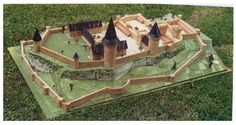 mock up of the first castle of Lusignan