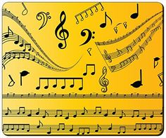 """Music Notes Customizable Gaming Mouse Pad 240x200x3mm(9.45""""x7.87""""x0.12"""") by iCustom&Shop Mouse Pads http://www.amazon.com/dp/B017I4V5WW/ref=cm_sw_r_pi_dp_Thfowb0EMXHMG"""