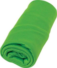"""Pocket Towel - 32""""L x 16""""W, Wt: 1.5 oz. Made of an advanced 70/30 polyester/nylon microfiber blend that soaks up moisture like a sponge. Compacts to fit into its own pocket-sized pouch. [$11.99 at Cabela's]  http://www.cabelas.com/product/Sea-To-Summit-Pocket-Towel/1827120.uts"""