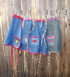 Recycled Denim Kids Aprons Choice of Assorted Denim Aprons | Etsy