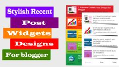 6 Stylish Recent Post Widgets Design for Blogger | The Bloggers Guide