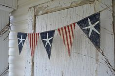 Size MED. Starfish Olde American Flag Patriotic by funkyshique