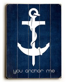Like a blast of salty sea air, this deep sea sign warms up walls with the best that the shore has to offer. Constructed from durable, high-quality wood and decorated with a nautical anchor, it's the perfect accessory for any beach bungalow. 14'' W x 20'' HWoodReady to hangMade in the U...