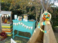 Project Nursery - Toddler Thanksgiving Party Dessert Table and Teepee - Project Nursery