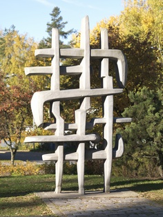 Sakari Vapaavuori The Pioneers, 1975 Finland Outdoor Chairs, Outdoor Furniture, Outdoor Decor, Public Art, Finland, Collections, Fine Art, Painting, Home Decor